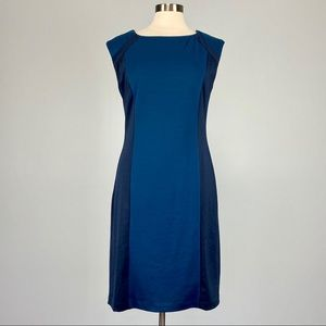 TravelSmith Colorblock Sleeveless Sheath Dress 10